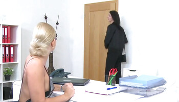 Nude modeling audition turns into intense lesbian intercourse