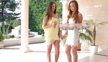 Capri Anderson & Angel Pink are so hot in lesbian scene