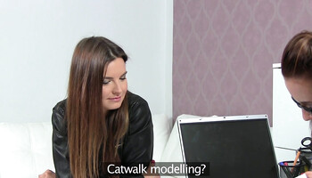 Gina Devine is interviewing Suzie Carina at lesbian casting
