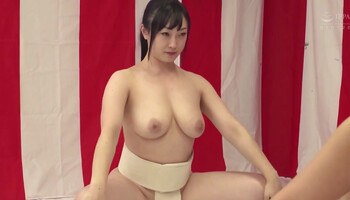 Japanese MILFs try the combination of lesbian sex and sumo wrestling