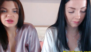Webcam dykes are asked to take of their satin nightgowns