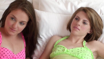 Aubrey Belle & Sadie Grey enjoy relaxing girl-on-girl intercourse